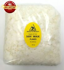 SOY WAX FLAKES ORGANIC VEGAN by H&B Oils Center FOR CANDLE MAKING PURE 24 OZ