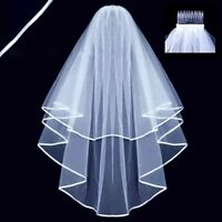 White Veil Wedding Charm Bachelorette Bride To Be Fancy Dress Night Party New