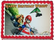 Super Mario Kart Party  Edible Cake Topper Image Decoration Frosting Sheet