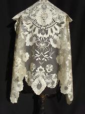 châle dentelle ancienne blonde - mantilla encaje antigua seda antique lace shawl