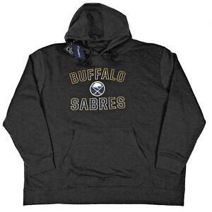 Buffalo Sabres Mens 4XL NHL Fanatics Charcoal Gray Pullover Hoodie Sweatshirt