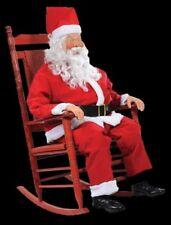 LIFE SIZE ANIMATED ROCKING SANTA CLAUS CHRISTMAS FIGURE PROP - MOVES - TALKS