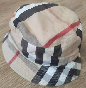 Burberry RARE Baby beige big nova check reversible Bucket Hat size 6 month