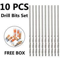 10pcs Spiralbohrer Mini Micro Steel Bohrwerkzeuge HSS Twist Drill Bits Set Home