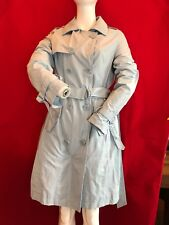BNWT ICEBERG Special Donna Impermeable Duck Egg Blue Trench Coat UK 8 RRP £321