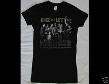 NEW KIDS ON THE BLOCK BACKSTREET BOYS Junior Size Medium Slim Fit Black T-Shirt