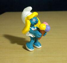 Smurfs Ice Cream Cone Smurfette 1984 Vintage Smurf Figure Toy PVC Mini 20190