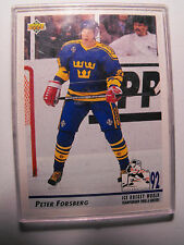 1992 NHL HOCKEY TRADING CARD, PETER FORSBERG, PLASTIC CASE, NEAR-MINT CONDITION