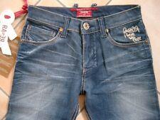 (C309) RARE-The Kid Boys 6 Pocket used look Jeans Hose mit Logo Stickerei gr.116
