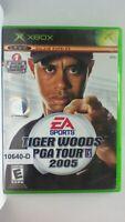 XBOX Game TIGER WOODS PGA TOUR 2005 Golf in Original Case Rated E