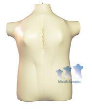 Inflatable Mannequin Female Torso Plus Size 2x Ivory