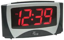 Equity 30029 Large White Led Alarm Clock With Night Light,No 30029, Equity