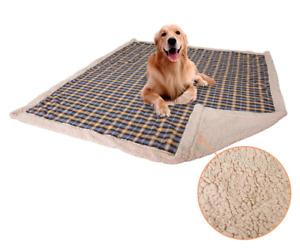 Waterproof Bed Mattress Protector Pet Dog Large Warm Plaid Blanket Cushion Mat