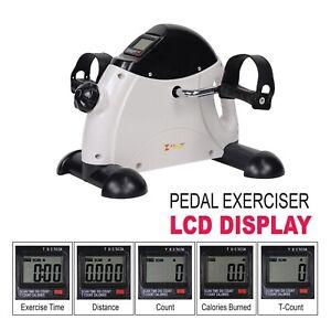 Mini Pedal Exerciser Bike Fitness Cycle Arm Leg LCD Display Home Gym Portable
