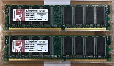 Kingston KVR ValueRAM Memory 1GB Kit (512MBx2) DDR SDRAM PC3200 400MHz RAM