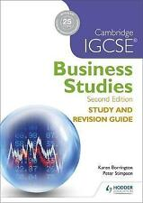 NEW Cambridge IGCSE Business Studies Study and Revision Guide 2nd edition