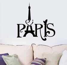 Black Paris Eiffel Tower Wall Sticker Decal Art Mural Home Decor DIY Removable
