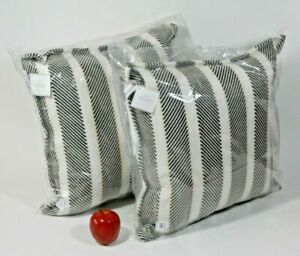 NWT Pottery Barn Aviv Striped Indoor Outdoor Pillow Square