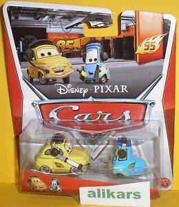 LUIGI & GUIDO HEADSET Giocattolo Mattel Cars Disney Modellini Metallo Diecast