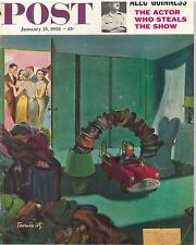 The Saturday Evening Post January 25 1958 Thornton Utz Vintage Americana