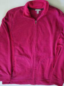 Old Navy Womens Fleece Active Wear Pink Jacket Top XL NEW