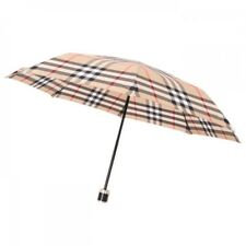 New Burberry Folding Umbrella 102cm Check Camel Mens from Japan
