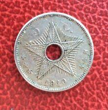 Congo Belge  - Albert Ier -,Belgique - Très Jolie monnaie de 5 Centimes 1910