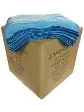 "240 Case 16""x16"" Economy Grade Microfiber Cleaning Cloths Auto 220GSM Light Blue"