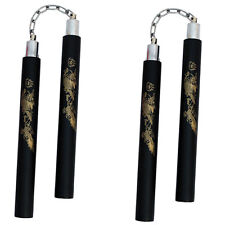 "TWO 12"" HANDLES MARTIAL ARTS NINJA FOAM PADDED KARATE NUNCHUCKS NUNCHAKU NUNCHUK"