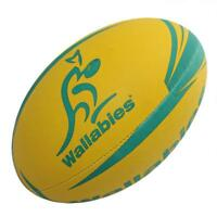 Gilbert Rugby Wallabies Supporter Ball Size 5 in Yellow