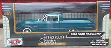 1960 Ford Ranchero Pick Up Green Metallic Motor Max 1/24 Scale Diecast Model
