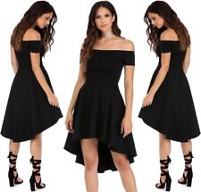 Abito Scollo Nudo aperto gonna Top Svasato Party Ballo Cerimonia Skater Dress L