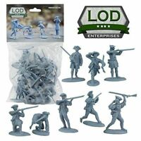 BARZSO LOD Revolutionary War Colonial Minutemen 16 Plastic Toy Soldiers BLUE