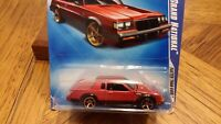 1987 Grand National Hot Wheels 1:64 Gn Red / Black Faster Than Ever BUICK gn004