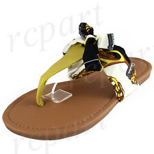 New girl's kids t strap slip on ribbon sandals color summer casual yellow