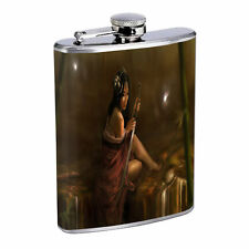 Fireflies D10 Flask 8oz Stainless Steel Hip Drinking Whiskey Insect Glow Bugs