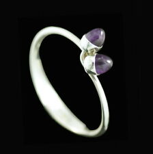 Anni & Bent Knudsen. Sterling Silver Bangle with Amethysts #5. 1960s