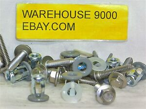 10 Truck Mirror Mounting Screws & Jack Nuts Auveco #14977 GM:14007511 Chrysler