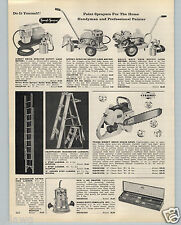 "1959 PAPER AD Trams Direct Drive 3.5 HP 16"" to 22"" Chain Saw"