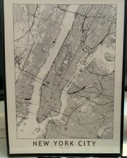 Framed Manhattan/NYC Society6 Poster, 18 x 24 in. - Used
