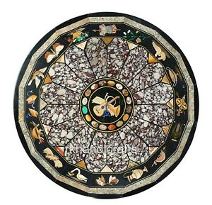 48 Inches Round Marble Table Top Luxurious Look Dining Table from Cottage Crafts
