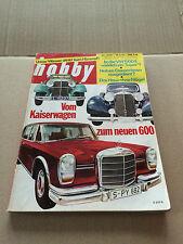 HOBBY Nr. 20/63 - 25.9.63 - MERCEDES - VOM KAISERWAGEN ZUM NEUEN 600 - VW 1500 S
