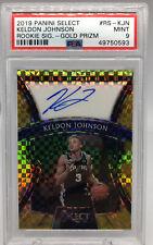 Keldon Johnson Select Rookie Auto Gold 7/10 Spurs PSA 9 Grade