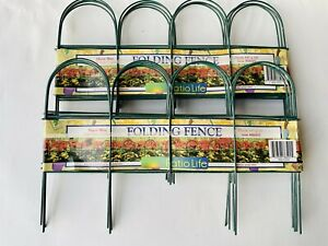 Decorative Garden Fence 10 in x 10 ft Rustproof Green Iron Wire Folding Fencing