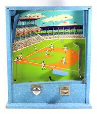 1940-50'S Penny Arcade Tabletop Vintage Wooden Americana Baseball Game Machine