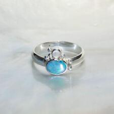 Ringe mit Opal Edelsteinen aus Sterlingsilber echten 59 (18,8 mm Ø)