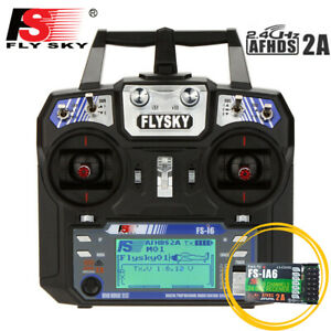 Trasmettitore Radiocomando Flysky FS-i6 6CH 2.4G RC Elicottero RC drone O9D1