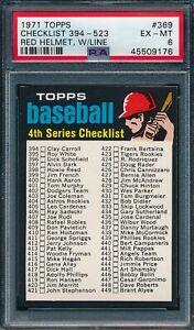1971 Topps Set Break #369 Checklist Red Helmet with Line PSA 6 *OBGcards*
