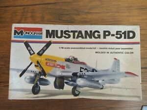 Vintage Monogram 1/48 Mustang P-51D Model kit Boxed