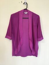 ROCKMANS As New Size L Magenta Open Front Cardigan Business Smart Casual
